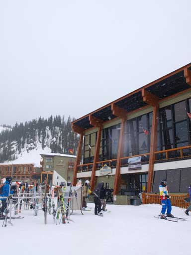 It was snowy and windy at Sunshine Village
