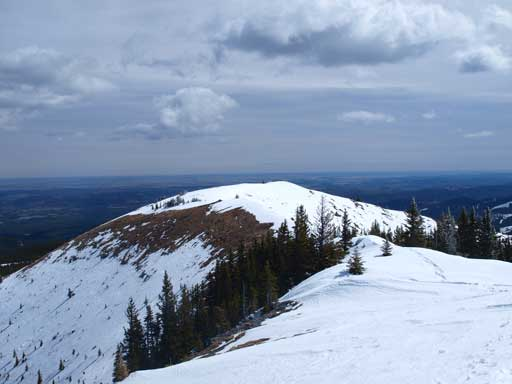 Looking back towards the false summit