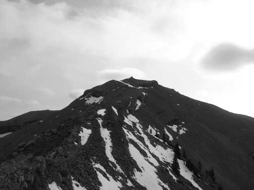 Looking upwards, the summit was in sight
