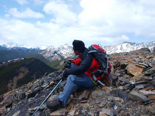 Me on the windy summit