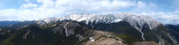 Panorama of Holy Cross and Head, Highwood Range