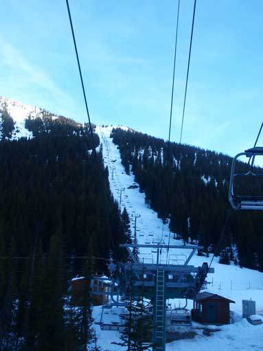 This is Ptarmigan Chairlift. It's steep...