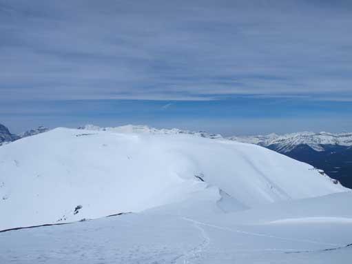 Looking back to Lipalian from Purple Peak