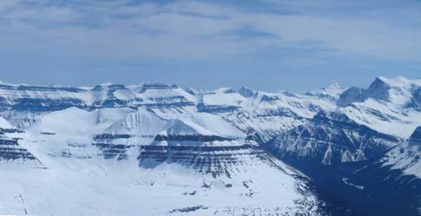 On the left skyline is part of Monchy Icefield highline traverse. It's on my to-do list.