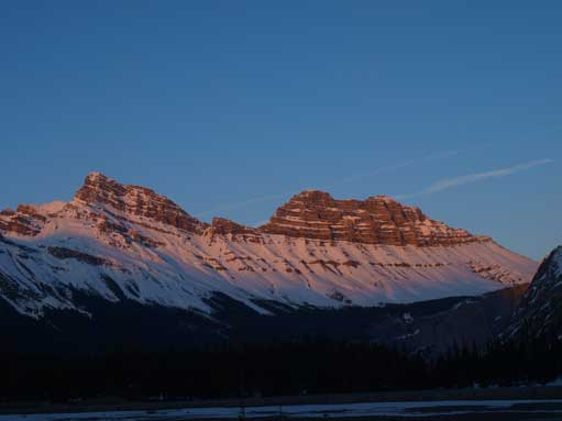 Cirrus Mountain at dusk.