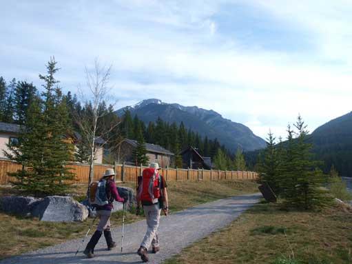 Matt Clay and Sandra at trail-head.