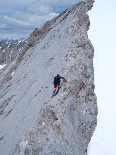 Diana descending from the true summit