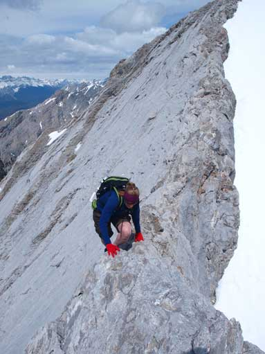 Going up the crux