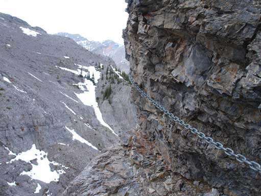 The chained crux traverse