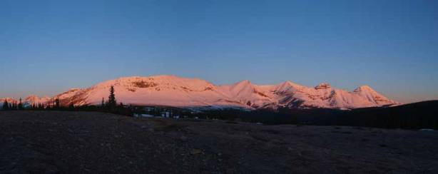 Gorgeous alpenglow in the morning