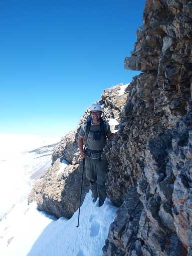 Eric descending Tripoli Mountain