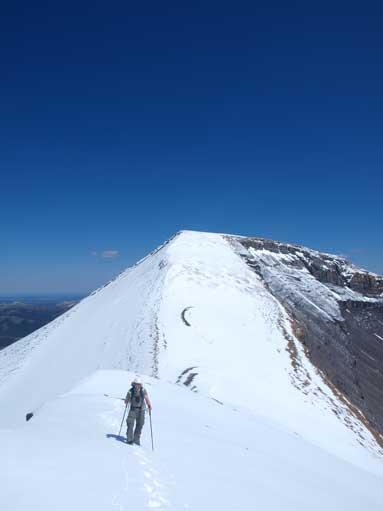 Looking back towards Cheviot Mountain