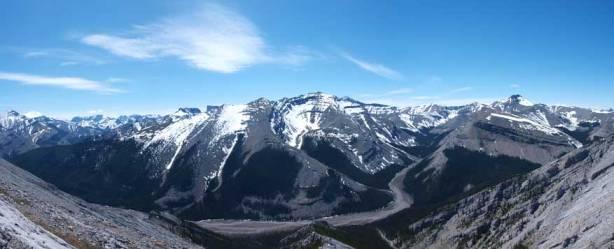 Looking back towards Mount Fullerton