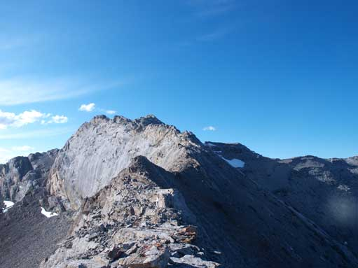 More exposed sections before the summit