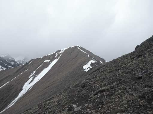Looking ahead towards the summit