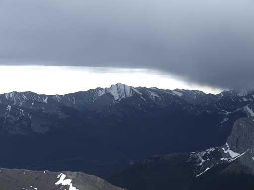 Fisher Peak and the darkening clouds