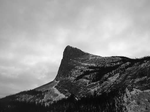 Ha Ling Peak looks impressive from Canmore
