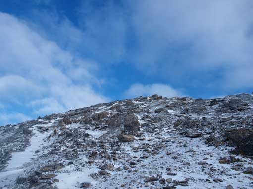 Typical terrain near the summit