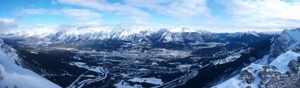 Panorama of Canmore and Bow Valley