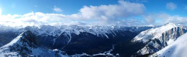 Panorama towards Goat Range and Spray Valley
