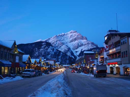 Cascade Mountain from Banff Avenue