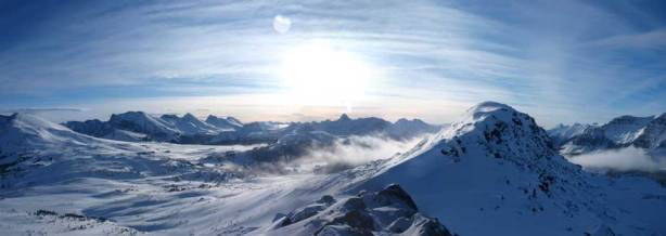 Another panorama view. True summit is visible on right