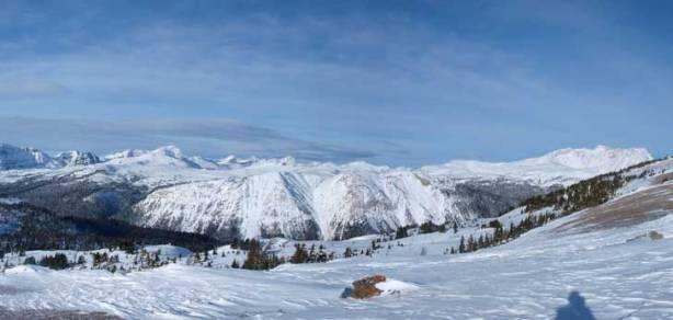 Panorama of Healy/Harvey Pass area