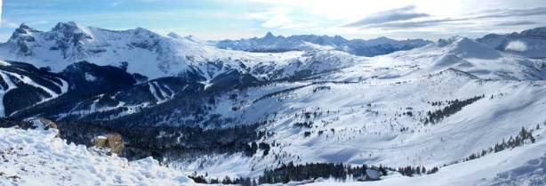 Panorama of Sunshine Village area
