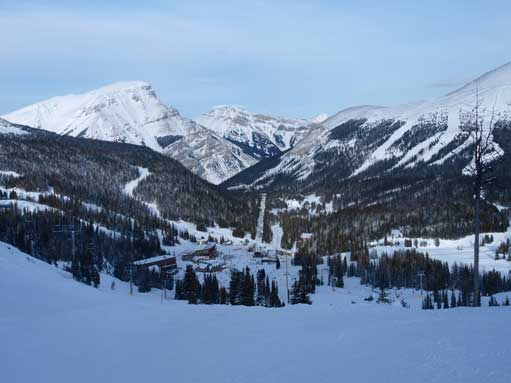 Looking down towards Sunshine Village