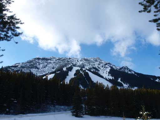Mount Norquay from parking lot. It's one of the busiest mountain in winter...