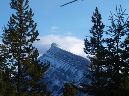 The only view of Mount Rundle