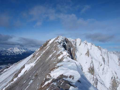 Now came the summit ridge.