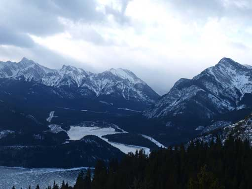 Looking into Kananaskis Valley from the first lookout