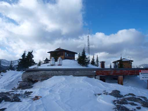 A heli pad on the summit.
