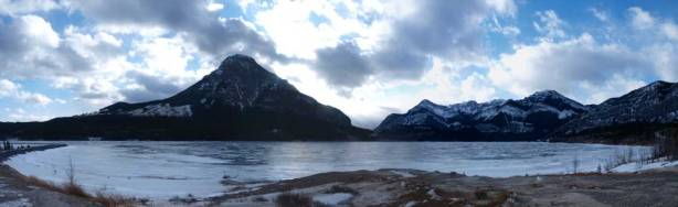 A last look at Barrier Lake before driving home.
