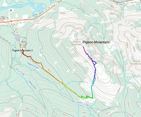 Pigeon Mountain standard scramble route