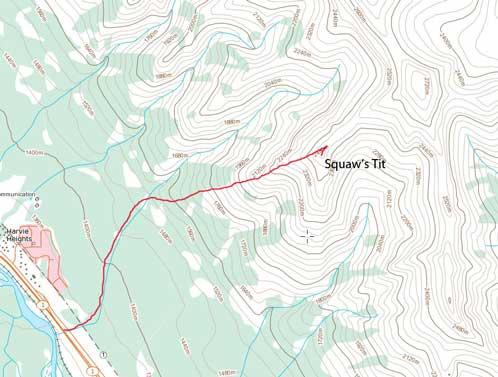 Squaw's Tit standard scramble route