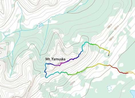 Mt. Yamuska standard scramble route