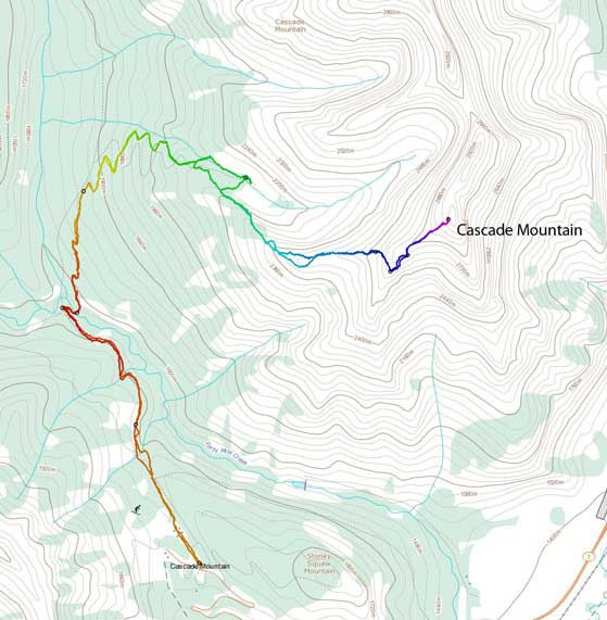 Cascade Mountain standard scramble route