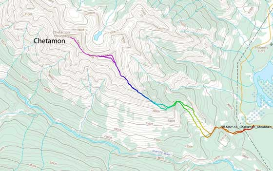 Chetamon Mountain scramble route