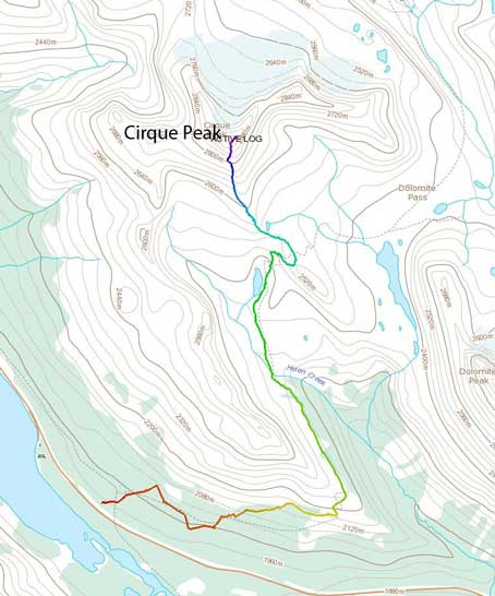 Cirque Peak standard scramble route