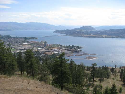 Kelowna and Okanagan Lake