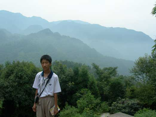 Me at a viewpoint at lower elevation