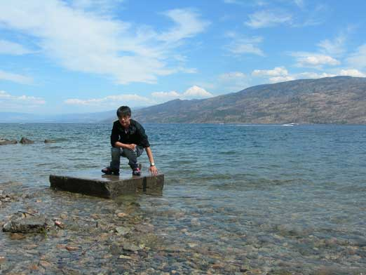We took a break at Okanagan Lake Provincial Park
