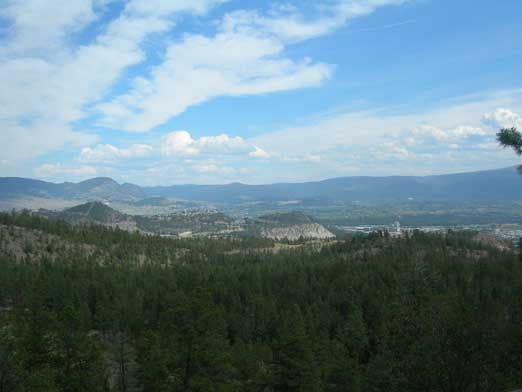 Looking East towards Black Knight Mountain and more of Okanagan Highland