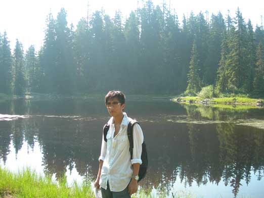 Me with Goldie Lake behind