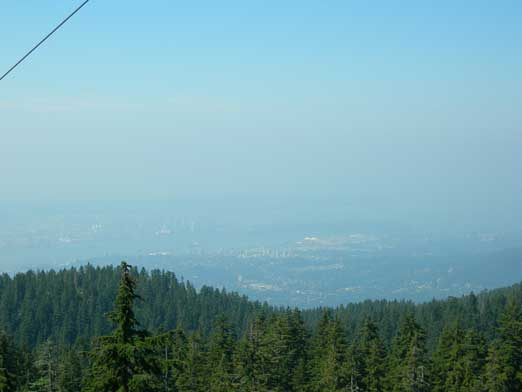 Could barely see Vancouver