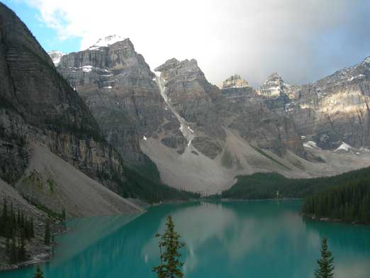 Moraine Lake in the morning