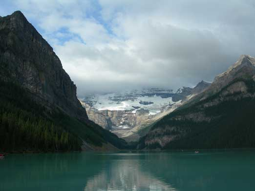 The tourist's shot of Lake Louise