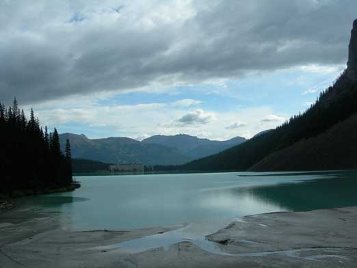 View from the backside of Lake Louise